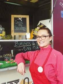 Caroline Raison, alias Little Miss Burger, conduit un Food truck au concept peu banal.
