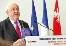 «Au niveau territorial, il faut des capteurs forts et surtout une méthode», assure André Rossinot à l'occasion des vœux du Grand Nancy.