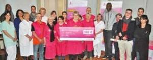 Un chèque de 500 euros a été remis par Yzico à l'association des Blouses Roses.
