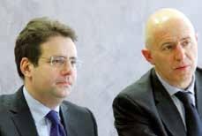 Matthias Fekl (à gauche), secrétaire d'État chargé du commerce extérieur, était à Nancy le 2 février pour rencontrer les entreprises locales.
