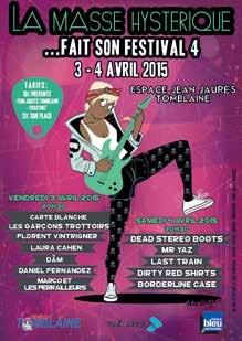 Soirées éclectiques et électriques assurées les 3 et 4 avril à l'occasion du festival «La Masse Hystérique».