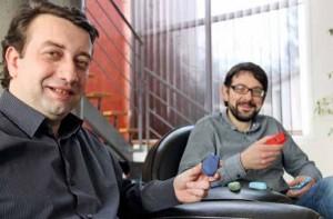 Laurent Fiat et Sylvain Briat de chez nirbee partent en campagne pour toucher les commerçants de l'agglomération nancéienne.