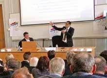 Une centaine de chefs d'entreprise ont écouté Marc Touati le 31 mars.