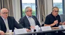 Jacques Chevalier (à droite) secrétaire général du Medef 54 a présenté Gilles Untereiner, le directeur général de la Chambre de commerce française en Allemagne.