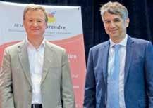 Claude Entemeyer a passé le relais à Philippe Courqueux à la présidence de Réseau Entreprendre Lorraine.