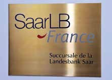 L'activité française de la SaarLB devient de plus en plus importante au fl des exercices.