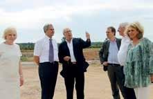 Valeriy Borisovich Levitskiy, le consul de Russie (deuxième en partant de la gauche), a découvert le chantier de l'Actipôle de Mondon.
