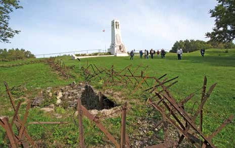 Le projet du parc éolien se situe à seulement huit kilomètres de la Bute de Vauquois.