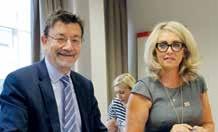 Christine Bertrand, présidente du Medef de Meurthe-et-Moselle et Joël Berger, directeur général de C2IME ont signé leur convention de partenariat le 8 septembre.
