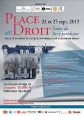 Place au Droit, le salon du livre juridique, est annoncé à la faculté de droit de Nancy les 24 et 25 septembre.