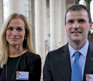 Audrey Raguet et Michel Etcheberrigaray, respectivement directrice et président de l'Aial à l'occasion des Rencontres de La Lorraine Notre Signature, le 13 octobre à Pont-à-Mousson.