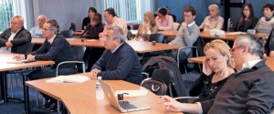 Ambiance studieuse le 13 octobre à l'occasion du petit déjeuner d'information sur «Répondre à un marché public», organisé par votre hebdomadaire économique et régional dans les locaux de la Fédération du BTP de Meurthe-et-Moselle à Nancy.
