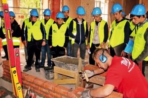 255 élèves et 29 accompagnants ont visité les coulisses du chantier de construction de l'hôtel 4 étoiles de Verdun le 8 octobre dernier.
