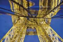 Une des réalisations d'Eprolor, le réaménagement du premier étage de la tour Eiffel (Thermolaquage des structures métalliques des nouveaux pavillons).