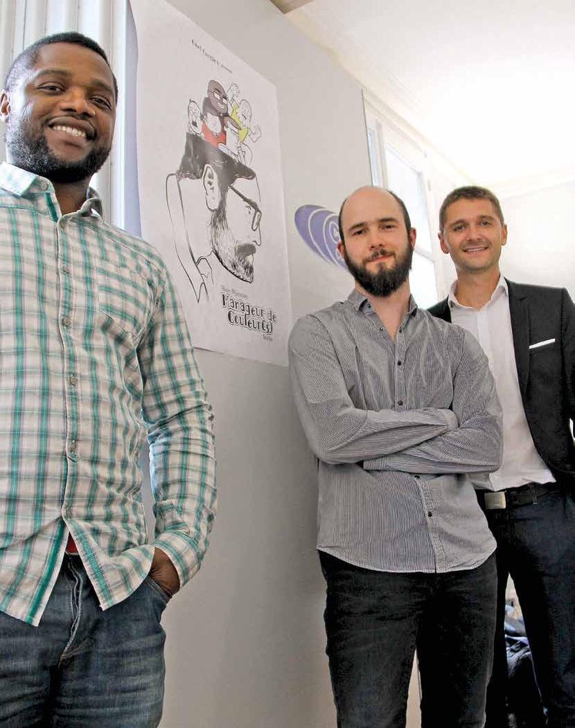 Alain Ngassam, Sébastien Ryckeboer, alias Barbu et Olivier Adam, gérant de Coef Continu: « Nous souhaitons démystifier le management. »