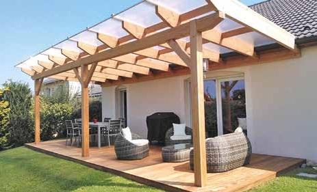 Construction d'une terrasse pergola à Bainville-sur-Madon.