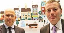 Serge Bayard (à droite) et Olivier Feur, respectivement directeur national et directeur régional Nord-Est de la Direction des Entreprises et du Développement des Territoires de la Banque Postale.