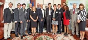 La délégation lorraine avec les partenaires de la Mission Canada et la Consule de France à Montréal, Catherine Feuillet