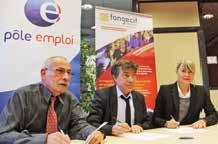 Signature de la convention Pôle emploi et Fongecif Lorraine le 14 octobre à Nancy.