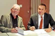 Jean-Marie Benoît, président de la CMA 54 et Olivier Loué, directeur de la BPALC pour la Meurthe-et-Moselle.