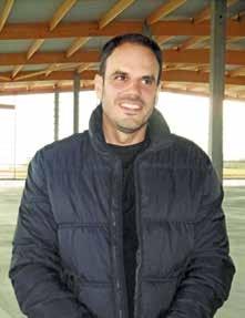 Bertrand Pierrel, au cTmur de la future plateforme de 8 000 m2 à Chambley.