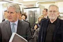 Philippe Richert, candidat LR-UDI- Modem aux élections régionales et Jean- Marie Benoît, le président de la CMA de Meurthe-et-Moselle en visite au Cepal.