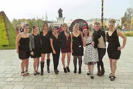 Place Stanislas à l'occasion d'un défilé de mode.