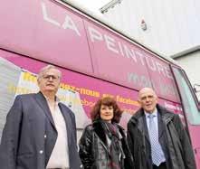 Philippe Bertolani, Rachel Pellé et Henri Jardin de l'association Actions 3PF.