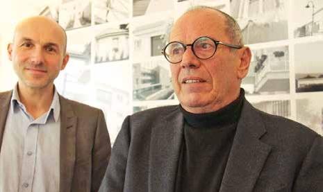 Jean-Paul Cruciani (à droite) vient de passer le témoin de la direction de mmH à Lionel Mahuet le 10 décembre.