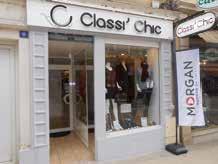 L'entrée de la boutique Classi'chic.