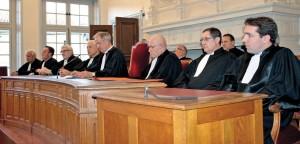 Audience solennelle du Tribunal de commerce de Bar-le-Duc, qui a vu le départ du président François Lombard. La juridiction est désormais présidée par Albert Granger.