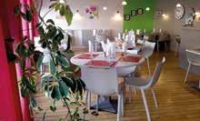 La Salle du restaurant de l'Âne bleu.