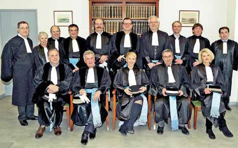 L'équipe des juges du Tribunal de commerce de Briey en route pour une nouvelle année judiciaire.