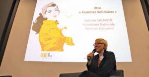«Il faut être vigilant aux forces obscures aujourd'hui qui tirent les femmes vers le bas», assure Sabine Salmon, présidente de l'association Femmes Solidaires.