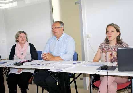 Michel Jubert, président de Meuse Initiative, entouré de Noémie Choppin, animatrice de la plateforme et Hélène Girard, chargée de la gestion administrative et financière.